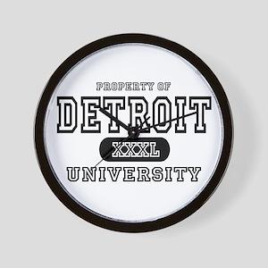 Detroit University Wall Clock