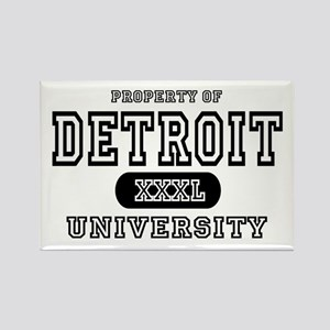Detroit University Rectangle Magnet