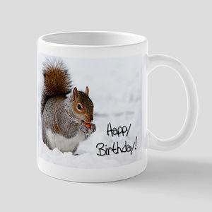 Happy Birthday Squirrel Mug