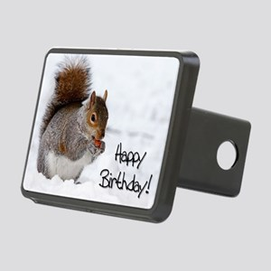 Happy Birthday Squirrel Hitch Cover