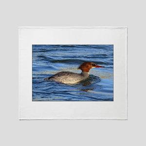 Common Merganser Throw Blanket