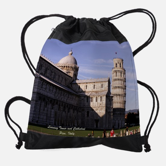 Pisa-Mouse Pad.png Drawstring Bag