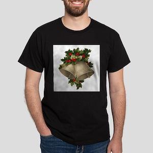 Vintage Christmas Bells - Sliver Bells Dark T-Shir