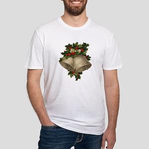 Vintage Christmas Bells - Sliver Bells Fitted T-Sh