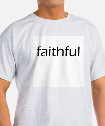 Faithful/Fingers Crossed Ash Grey T-Shirt