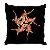 Bearded dragon Cotton Pillows