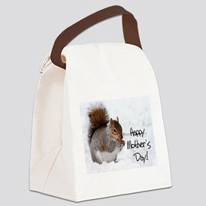 Happy Mothers Day Squirrel Canvas Lunch Bag