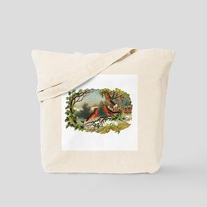 Victorian Winter Scene - Birds Tote Bag