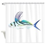 Roosterfish fish Shower Curtain