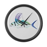 Roosterfish fish Large Wall Clock