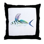 Roosterfish fish Throw Pillow