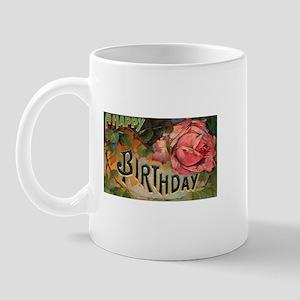 Victorian Birthday Rose Mug