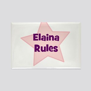 Elaina Rules Rectangle Magnet