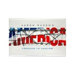 America-W Rectangle Magnet