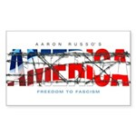 America-W Rectangle Sticker
