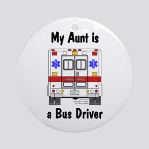 Bus Driver Aunt Ornament (Round)