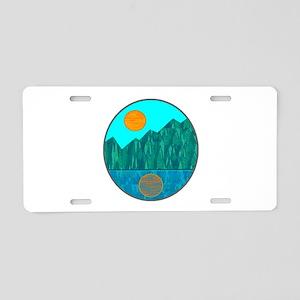 SERENE IS Aluminum License Plate