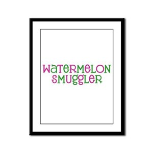 Watermelon Smuggler Framed Panel Print