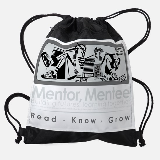 Mentors-BW-white.png Drawstring Bag