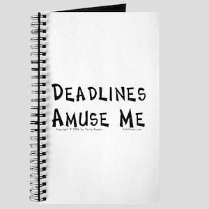 Deadlines... Journal