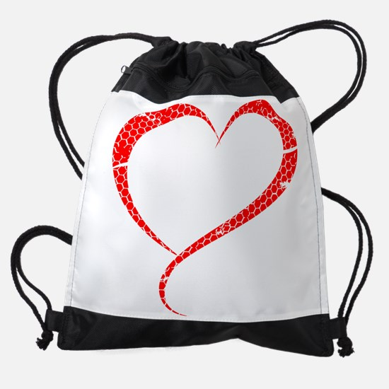 LOVE SQUATS - BLACK Drawstring Bag