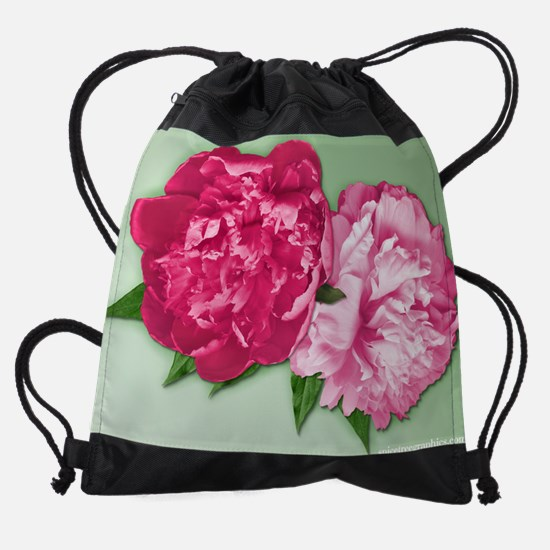 Peonys.png Drawstring Bag