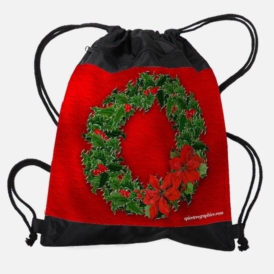 xmaswreath.png Drawstring Bag