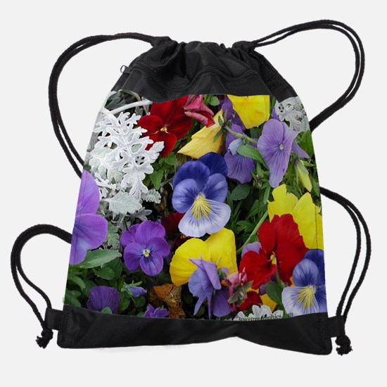 Flowers1.png Drawstring Bag