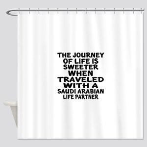Traveled With Saudi Arabian Life Pa Shower Curtain