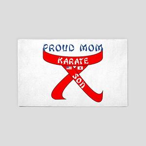 Proud Mom Karate Son 3'x5' Area Rug