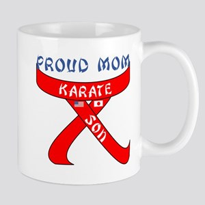 Proud Mom Karate Son Mug