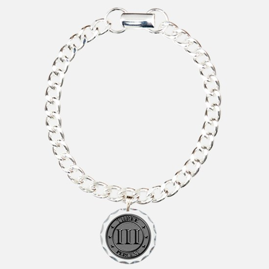 Three Percent Silver Bracelet