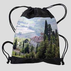 Tuscan Farmhouse (Vignamaggio) Cale Drawstring Bag