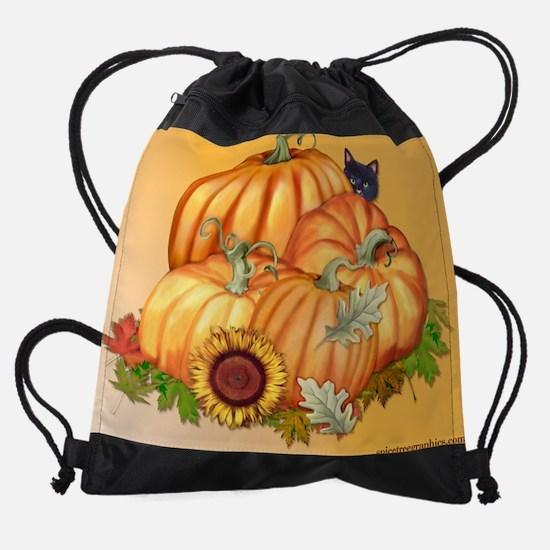 PumpkinSunflower.png Drawstring Bag