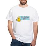 Cat Spoken Here White T-Shirt