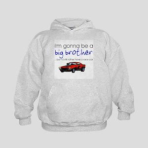 Gonna be big brother (race car) Kids Hoodie