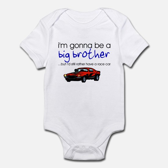 Gonna be big brother (race car) Infant Bodysuit