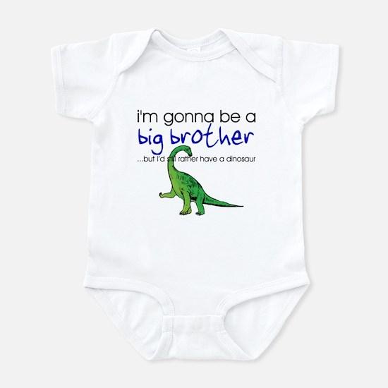Gonna be big brother (dinosaur) Infant Bodysuit