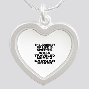 Traveled With Samoan Life Pa Silver Heart Necklace