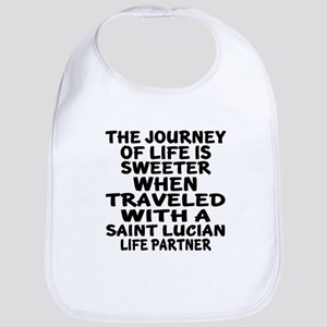 Traveled With Saint Lucian Life Pa Cotton Baby Bib