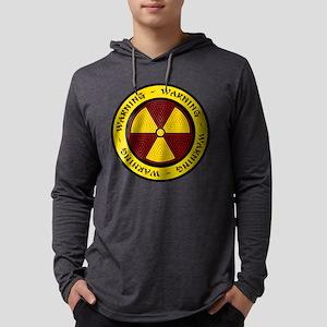 Graphic Art Radiation Symbol Mens Hooded Shirt