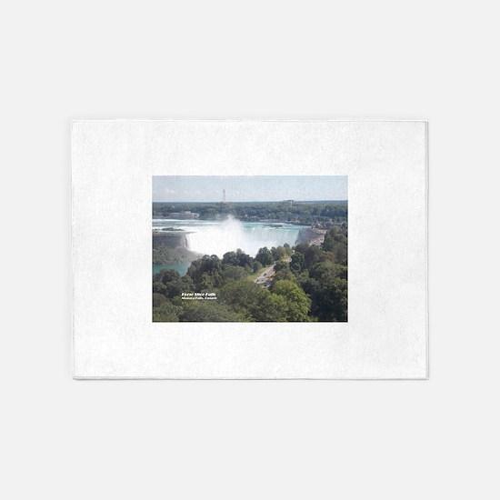 Horseshoe Falls, Niagara Falls 5'x7'Area Rug