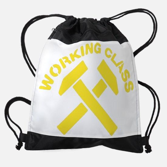 working_classgold.png Drawstring Bag