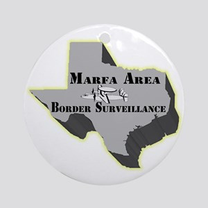 Marfa Area Border Surveillance Ornament (Round)