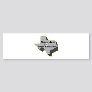 Marfa Area Border Surveillance Bumper Sticker