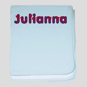 Julianna Red Caps baby blanket