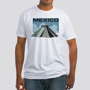 Mexico Pyramid Fitted T-Shirt
