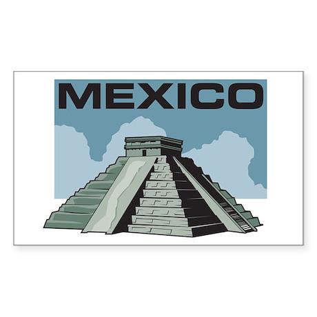 Mexico Pyramid Rectangle Sticker