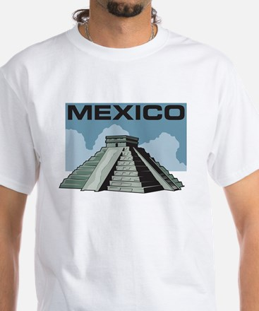 Mexico Pyramid White T-Shirt