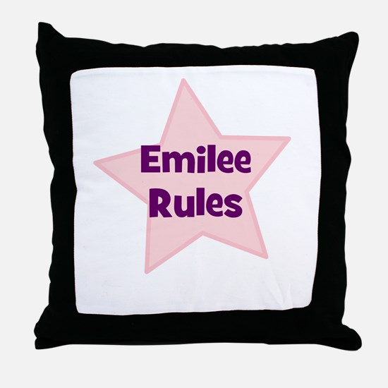 Emilee Rules Throw Pillow